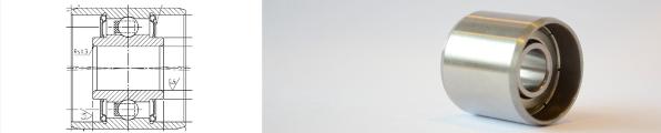 Roulement spécial pour galets pinceurs Banner Oberwalzenlager