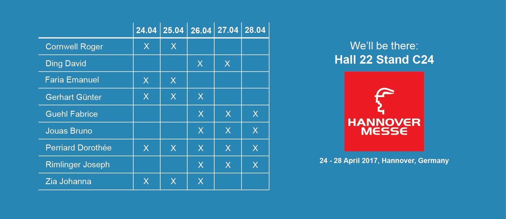 Planning web Einladung zur Hannover Messe