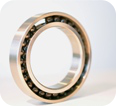 Hybrid bearing for vacuumpumps