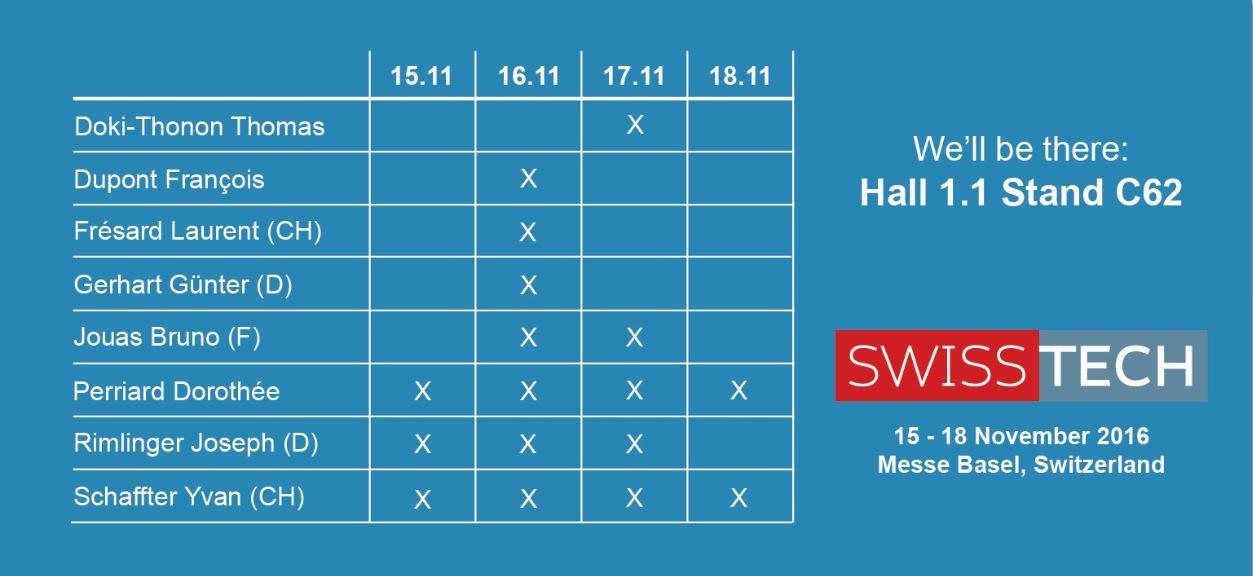 JESA Planning Einladung zur Swisstech Messe